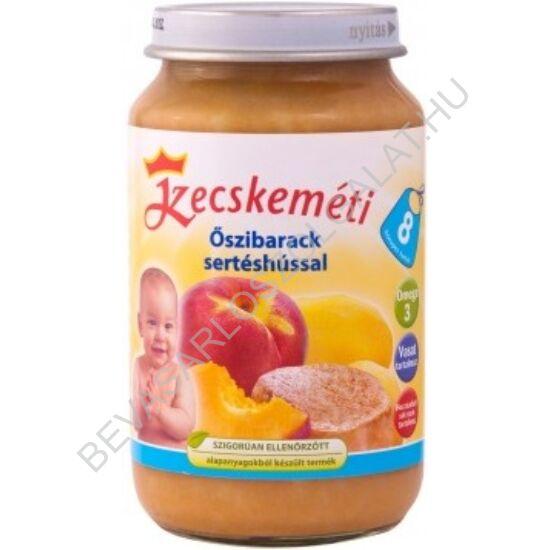 Kecskeméti Bébiétel Őszibarack Sertéshússal - 8 hónapos kortól 220 g