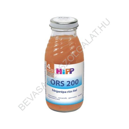 Hipp Bébiital ORS 200 Sárgarépa - Rizs Ital - 4 hónapos kortól 200 ml