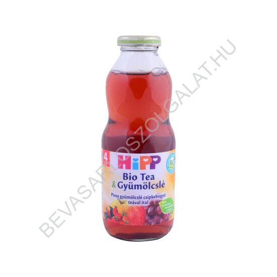 Hipp BIO Bébiital Tea & Gyümölcslé Piros Gyümölcslé Csipkebogyó Teával Ital- 4 hónapos kortól 500 ml