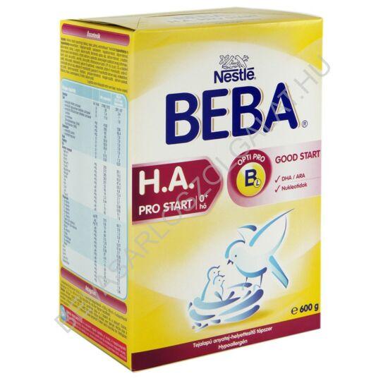 Nestlé Beba HA Pro Start Tejalapú Anyatej-helyettesítő Tápszer - újszülött kortól 600 g