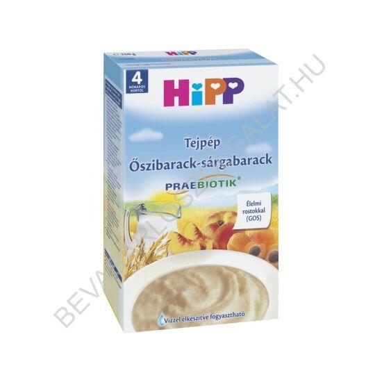 Hipp Tejpép Őszibarack - Sárgabarack - 4 hónapos kortól 250 g