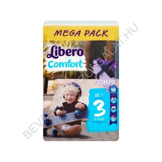 Libero Comfort Pelenka Midi (3) 4-9 kg Megapack 88 db
