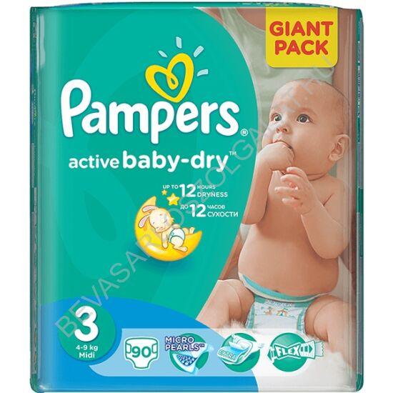 Pampers Active Baby Pelenka Midi (3) 4-9 kg 90 db