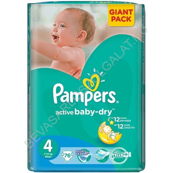 Pampers Active Baby Pelenka Maxi (4) 7-14 kg 76 db