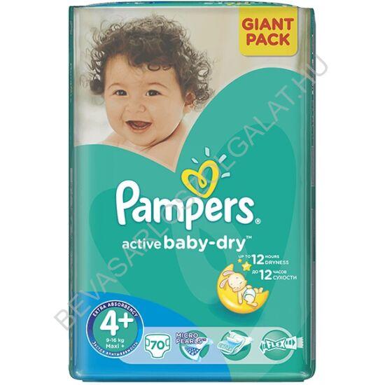 Pampers Active Baby Pelenka Maxi Plus (4+) 9-16 kg 70 db