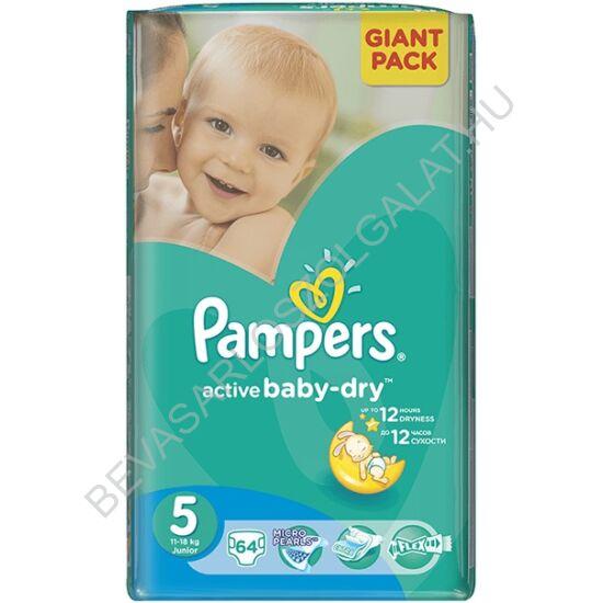Pampers Active Baby Pelenka Junior (5) 11-18 kg 64 db