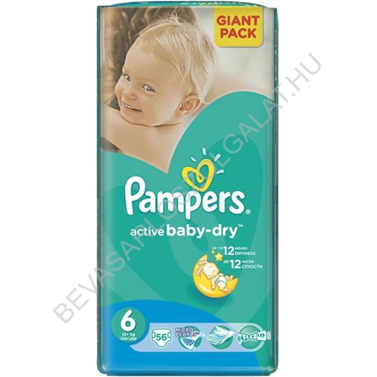 Pampers Active Baby Pelenka Extra Large (6) 15+ kg 56 db