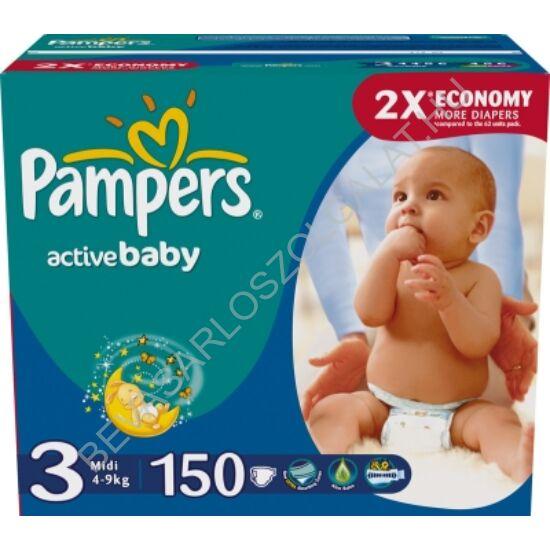 Pampers Active Baby Pelenka Midi (3) 4-9 kg 150 db