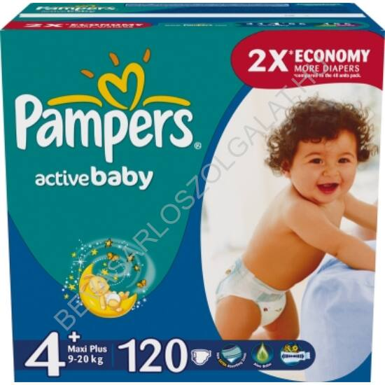 Pampers Active Baby Pelenka Maxi Plus (4+) 9-16 kg 120 db