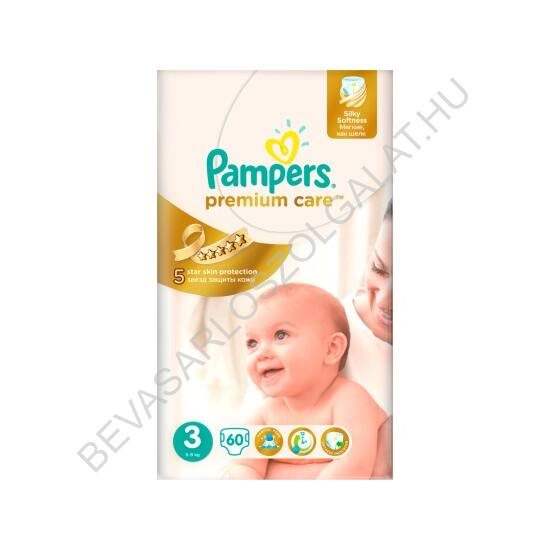Pampers Premium Care Pelenka Midi (3) 4-9 kg 60 db