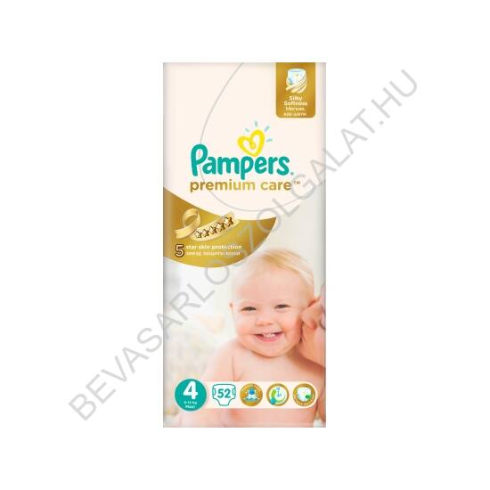 Pampers Premium Care Pelenka Maxi (4) 8-14 kg 52 db