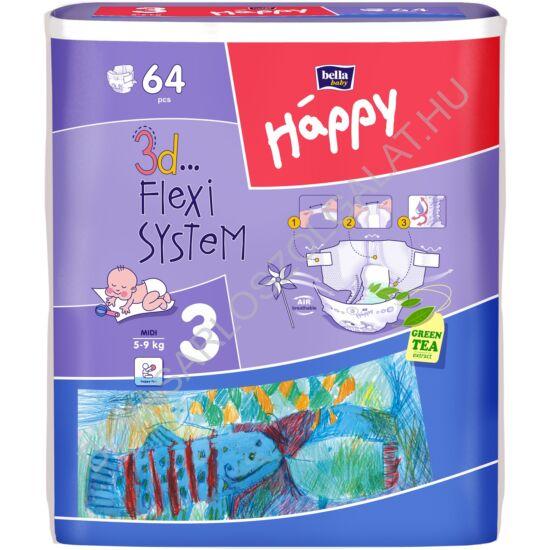 Bella Baby Happy Pelenka Midi (3) 5-9 kg 64 db
