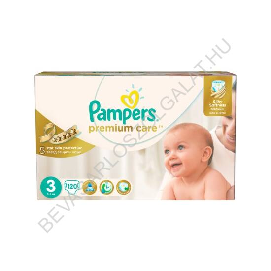 Pampers Premium Care Pelenka Midi (3) 4-9 kg 120 db